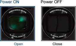Auto Power ON/OFF & Auto Lens Cover